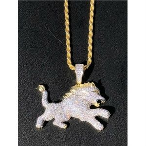 Harlembling Two Tone Diamond Rasta Lion Leo Pendan